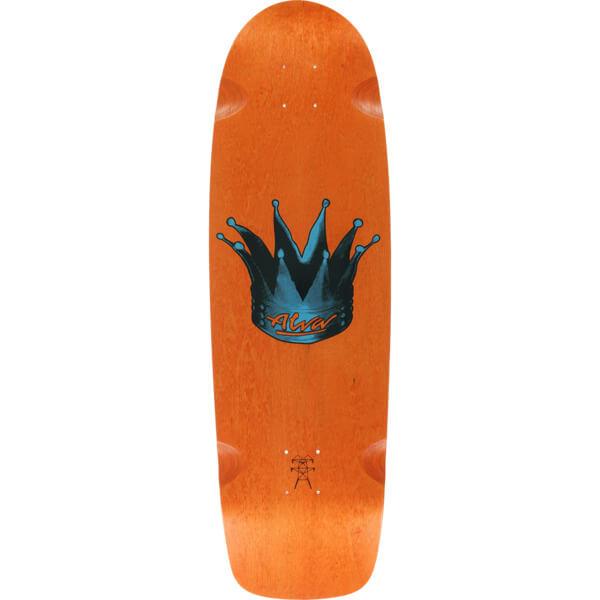 "Alva Skateboards Hyperkick Orange Old School Skateboard Deck - 9.5"" x 33"""