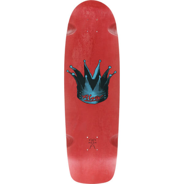 "Alva Skateboards Hyperkick Red Old School Skateboard Deck - 9.5"" x 33"""