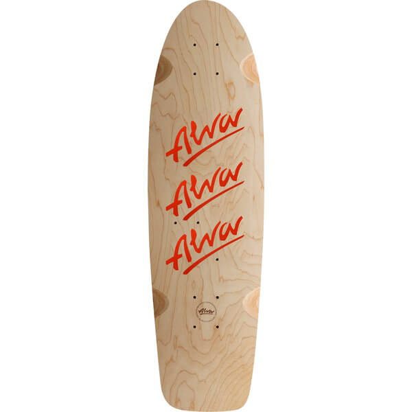 "Alva Skateboards 1979 Tri Logo Natural Old School Skateboard Deck w/ Factory Grip Tape - 10"" x 30"""
