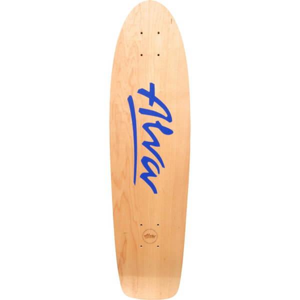 "Alva Skateboards 1977 Twilight Reissue Natural / Twilight Blue Old School Skateboard Deck - 7.75"" x 29.5"""