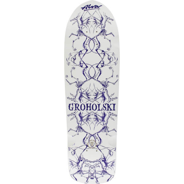 "Alva Skateboards Tom Groholski Guest White / Navy Old School Skateboard Deck - 9.25"" x 33"""