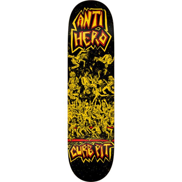 "Anti Hero Skateboards Curb Pit Black Skateboard Deck - 8.25"" x 32"""