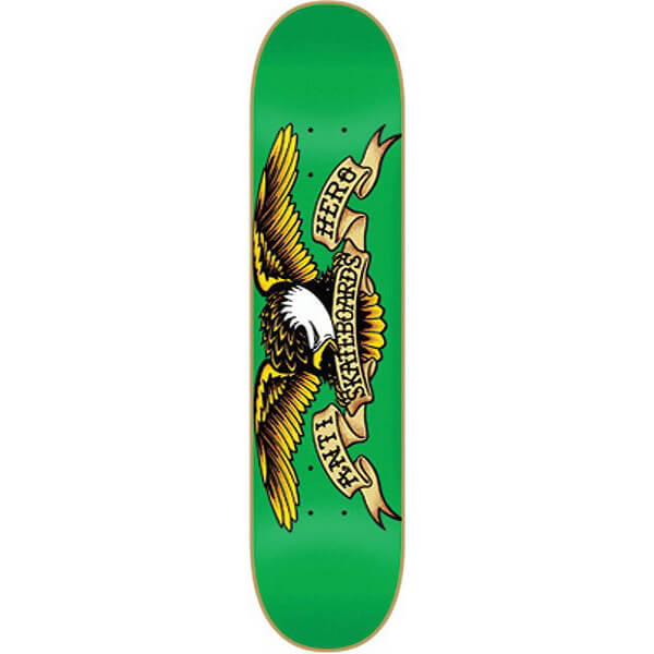 "Anti Hero Skateboards Classic Eagle Green Skateboard Deck - 7.81"" x 31.3"""