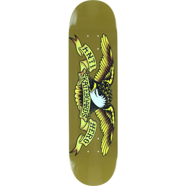"Anti Hero Skateboards Classic Eagle Brown Skateboard Deck - 8.06"" x 31.8"""