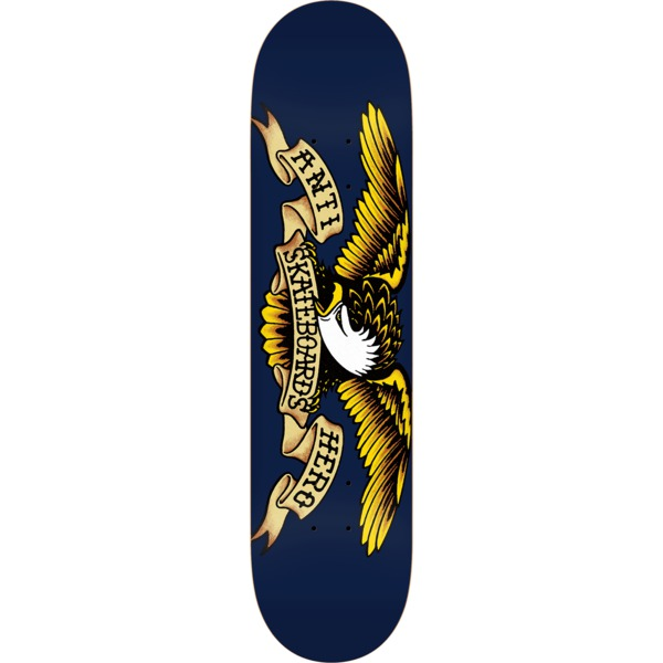 "Anti Hero Skateboards Classic Eagle Navy Skateboard Deck - 8.5"" x 32"""