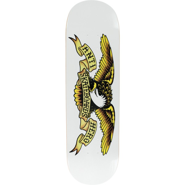 "Anti Hero Skateboards Classic Eagle White Skateboard Deck - 8.75"" x 32.6"""