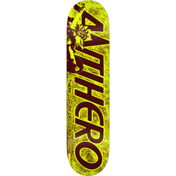 "Anti Hero Skateboards Highlander Hero Yellow Skateboard Deck - 7.75"" x 31.25"""