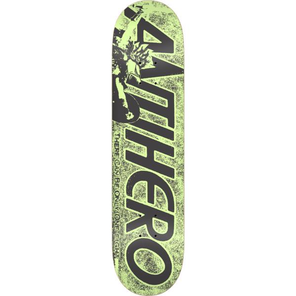 "Anti Hero Skateboards Highlander Hero Green Skateboard Deck - 8.06"" x 31.8"""