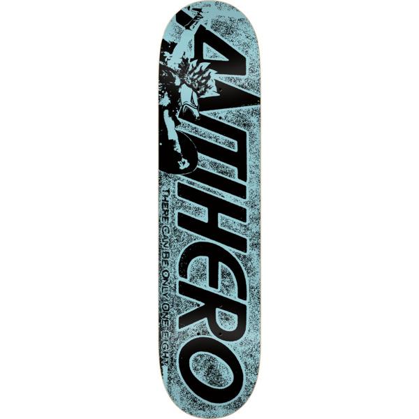 "Anti Hero Skateboards Highlander Hero Blue Skateboard Deck - 8.25"" x 32"""