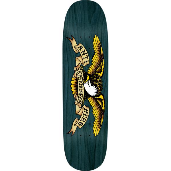 "Anti Hero Skateboards Shaped Eagle Overspray Blue Dip Skateboard Deck - 8.75"" x 32.55"""