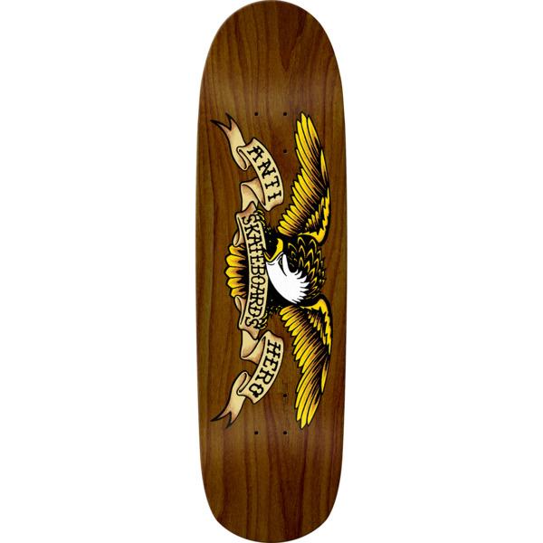 "Anti Hero Skateboards Shaped Eagle II Brown Bomber Skateboard Deck - 8.86"" x 32"""