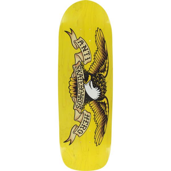 "Anti Hero Skateboards Shaped Eagle Overspray Yellow Dip Skateboard Deck - 9.95"" x 33.3"""