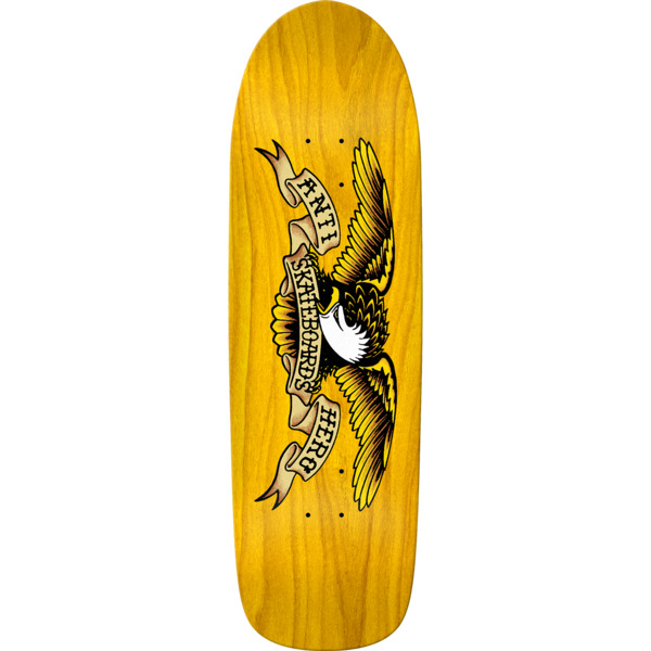 "Anti Hero Skateboards Shaped Eagle II Ol Yeller Skateboard Deck - 9.95"" x 33.3"""