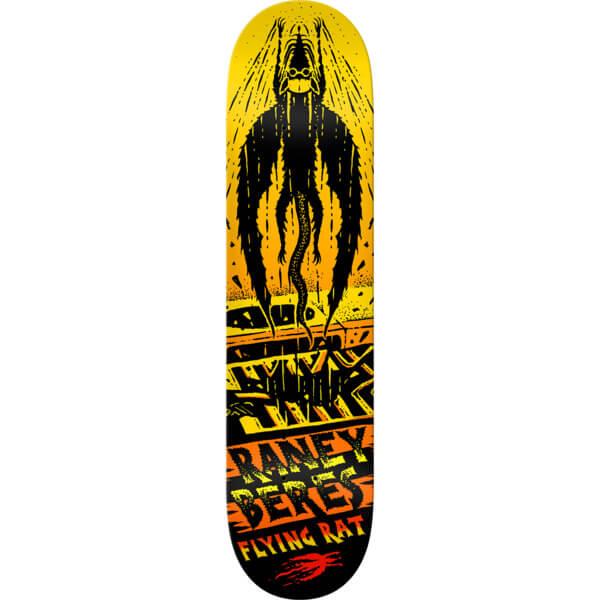 "Anti Hero Skateboards Raney Beres Flying Rat Yellow / Orange / Black Skateboard Deck - 8.28"" x 31.7"""