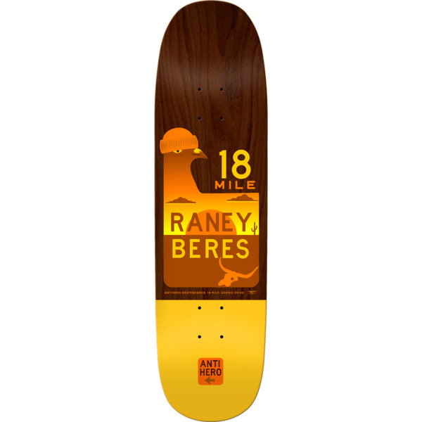 "Anti Hero Skateboards Raney Beres Scenic Drive II Skateboard Deck - 8.63"" x 32.04"""