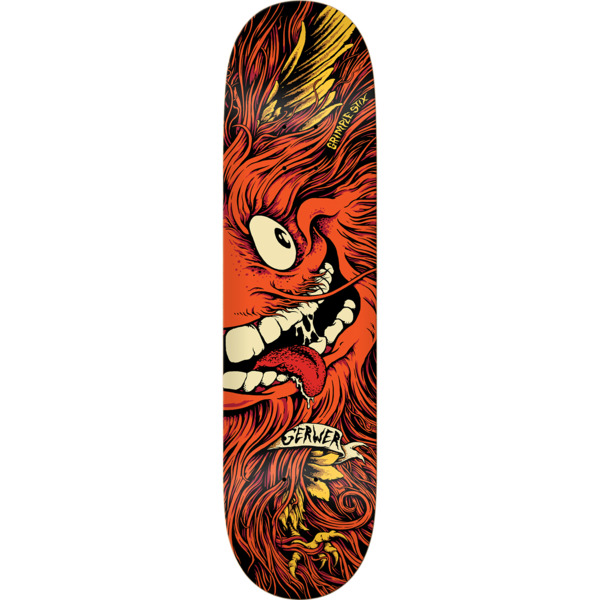 "Anti Hero Skateboards Frank Gerwer Grimple Stix Collab Orange Skateboard Deck - 8.06"" x 31.8"""