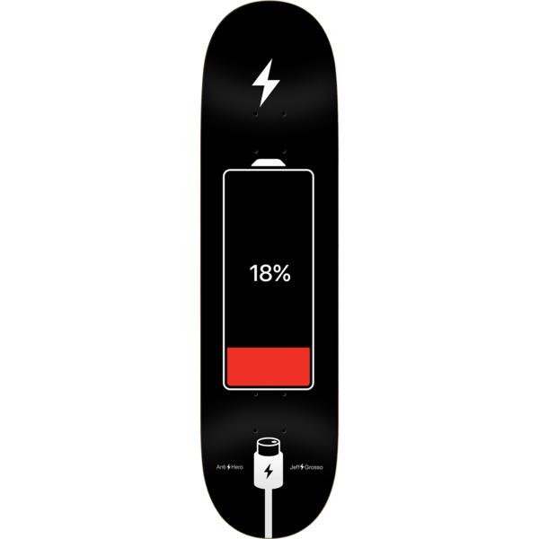 "Anti Hero Skateboards Jeff Grosso Battery Life Skateboard Deck - 8.62"" x 32.56"""