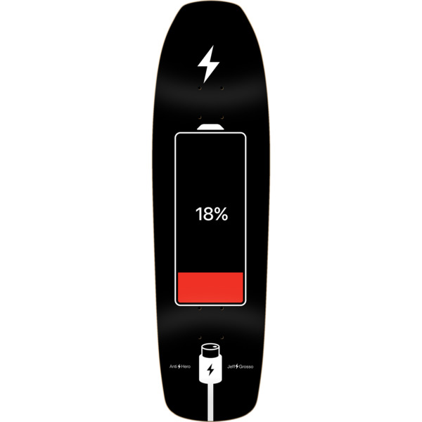 "Anti Hero Skateboards Jeff Grosso Battery Life Skateboard Deck - 9.25"" x 32.9"""