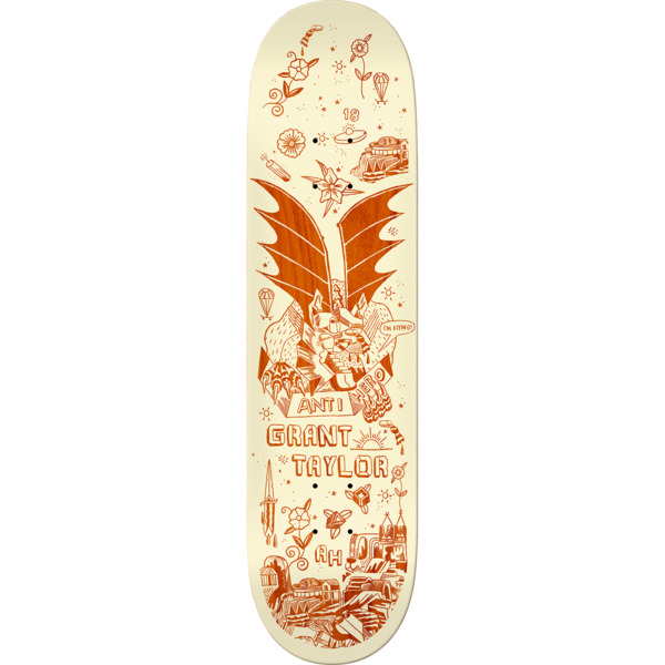 "Anti Hero Skateboards Grant Taylor We Fly II Skateboard Deck - 8.75"" x 32.6"""