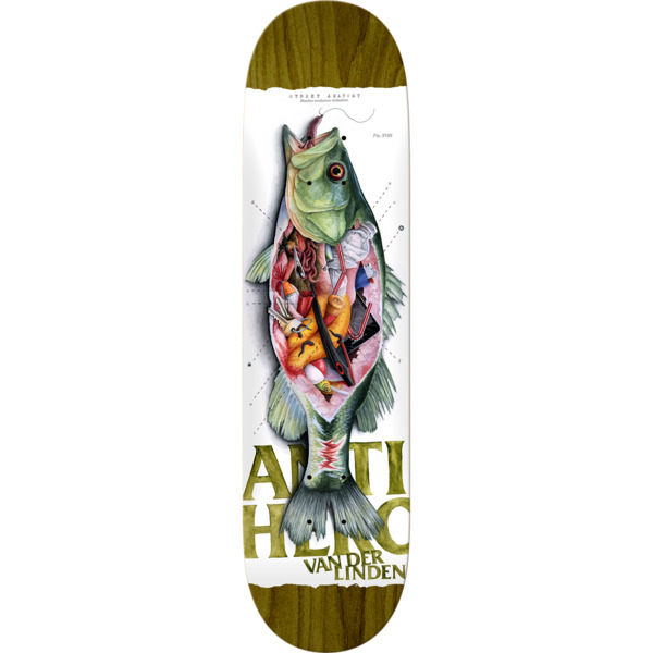 "Anti Hero Skateboards Daan Van Der Linden Street Anatomy Skateboard Deck - 8.25"" x 32.2"""