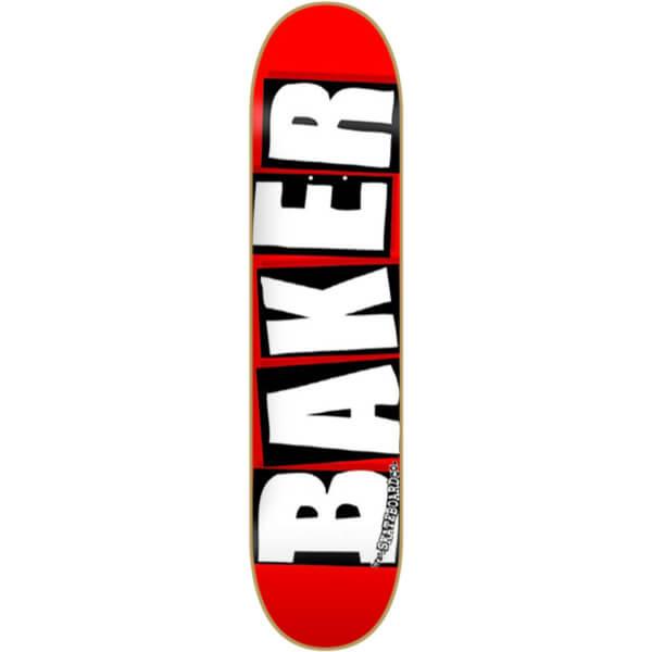 """Baker Skateboards Brand Logo Red / White Skateboard Deck - 7.56"""" x 31.75"""""""