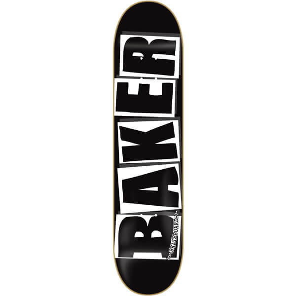 "Baker Skateboards Brand Logo Black / White Skateboard Deck - 8"" x 31.5"""
