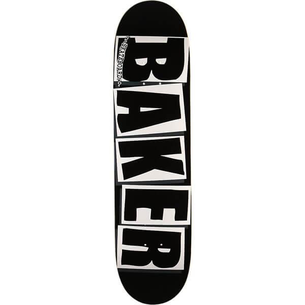 """Baker Skateboards Brand Logo Black / White Skateboard Deck - 8.12"""" x 31.5"""""""