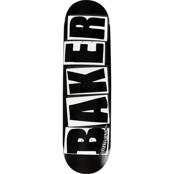 """Baker Skateboards Brand Logo Black / White Skateboard Deck - 8.25"""" x 31.875"""""""