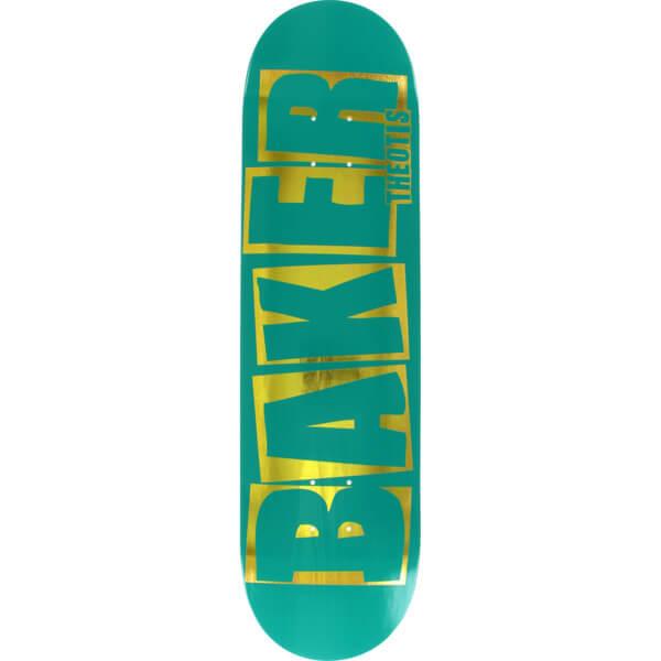 baker skateboards theotis beasley brand name teal gold