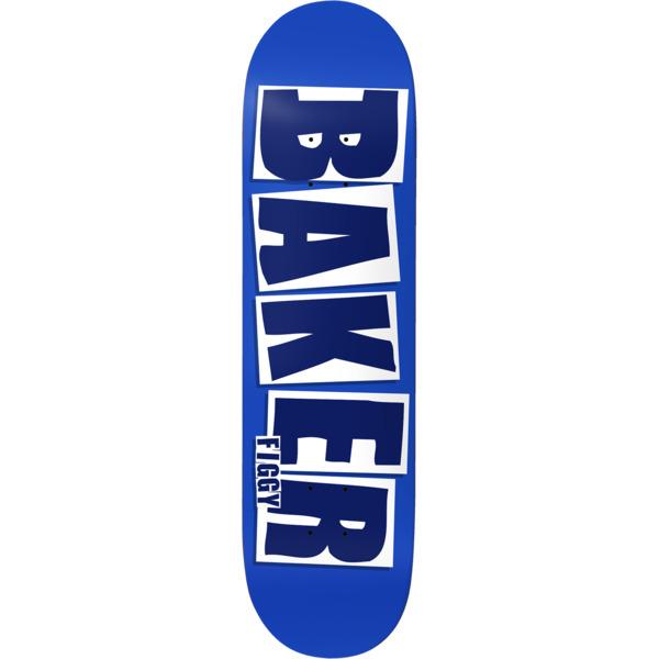 """Baker Skateboards Justin """"Figgy"""" Figueroa Brand Name Blue / White Skateboard Deck - 8.12"""" x 31.5"""""""