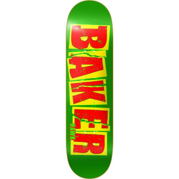 baker skateboards riley hawk brand name tear green