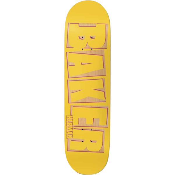 "Baker Skateboards Bryan Herman Brand Name Punch Out Skateboard Deck - 8.25"" x 31.875"""