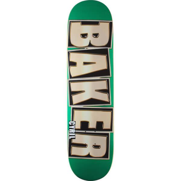 172117a9 Baker Skateboards Cyril Jackson Jackson Brand Name Glitter Green Skateboard  Deck - 8 x 31.75 - Warehouse Skateboards