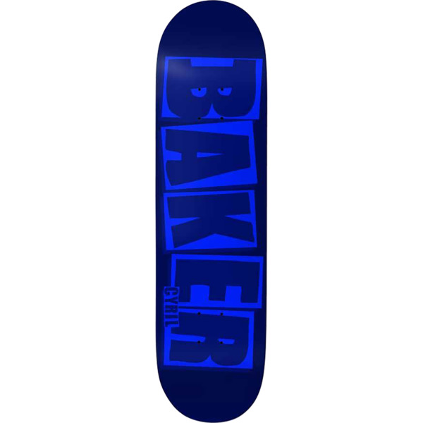"Baker Skateboards Cyril Jackson Brand Name Blue Skateboard Deck B2 - 8.02"" x 31.5"""