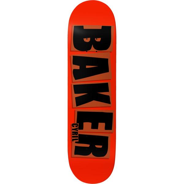 "Baker Skateboards Cyril Jackson Brand Name Red / Black Skateboard Deck - 8"" x 31.5"""