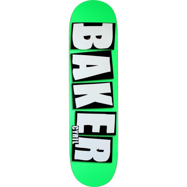 baker skateboards cyril jackson brand name neon green