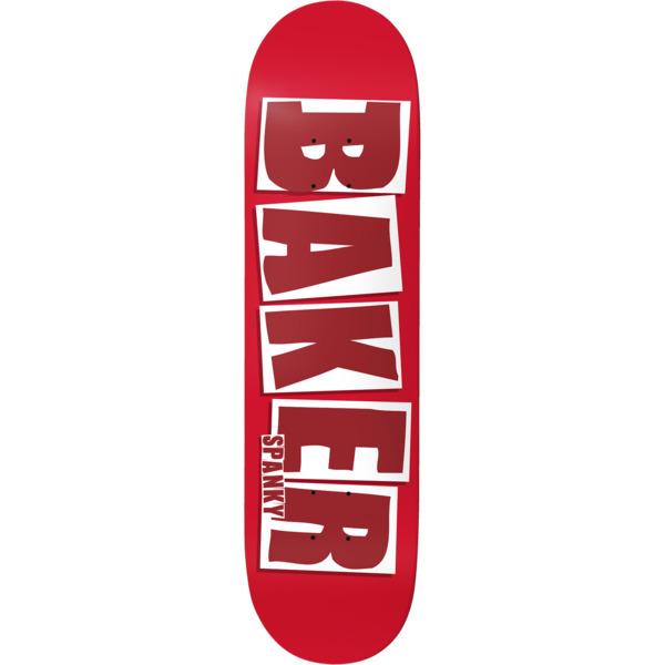 "Baker Skateboards Kevin ""Spanky"" Long Brand Name Red / White Skateboard Deck - 8.25"" x 32"""