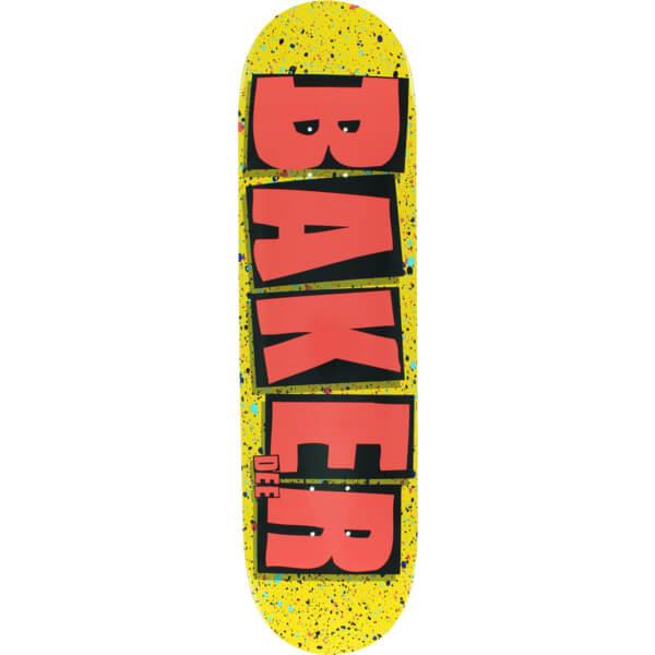 baker skateboards dee ostrander brand name splatter yellow