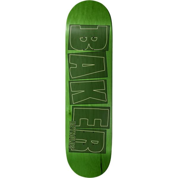 """Baker Skateboards Andrew Reynolds Brand Name Stroke Lime Skateboard Deck - 8"""" x 31.5"""""""