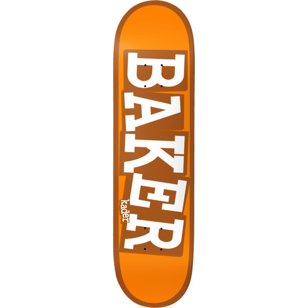 "Baker Skateboards Kader Sylla Ribbon Name Orange Skateboard Deck - 8.12"" x 31.5"""