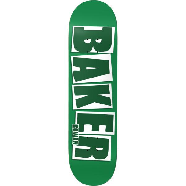 "Baker Skateboards Rowan Zorilla Brand Name Green / White Skateboard Deck - 7.87"" x 31.25"""