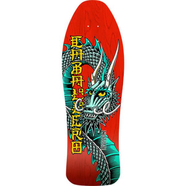 "Bones Brigade Skateboards Steve Caballero 10th Series Red Old School Skateboard Deck - 10"" x 30"""