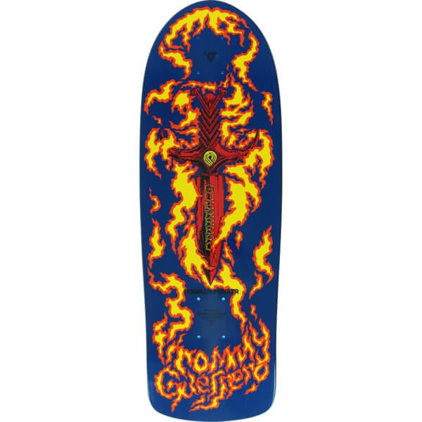 "Bones Brigade Skateboards Tommy Guerrero 10th Series Blue Old School Skateboard Deck - 9.6"" x 29.18"""