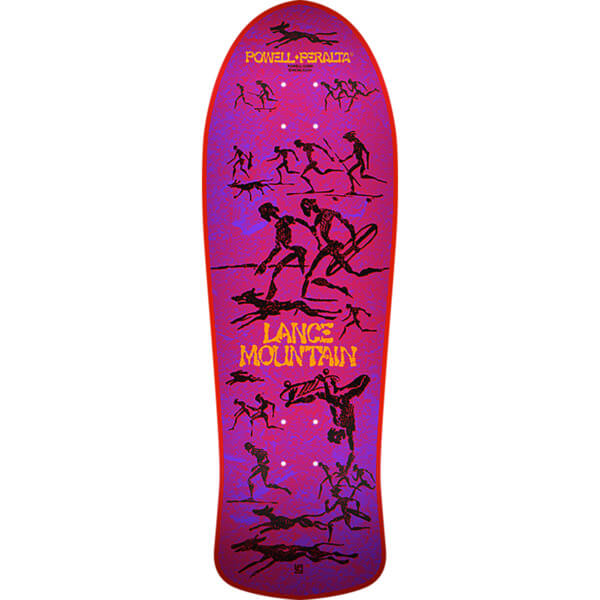"Bones Brigade Skateboards Lance Mountain 10th Series Red Old School Skateboard Deck - 10"" x 30.7"""