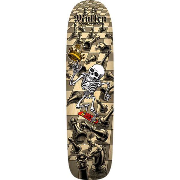 "Bones Brigade Skateboards Rodney Mullen Chess 10th Series Natural Old School Skateboard Deck - 7.4"" x 27.62"""