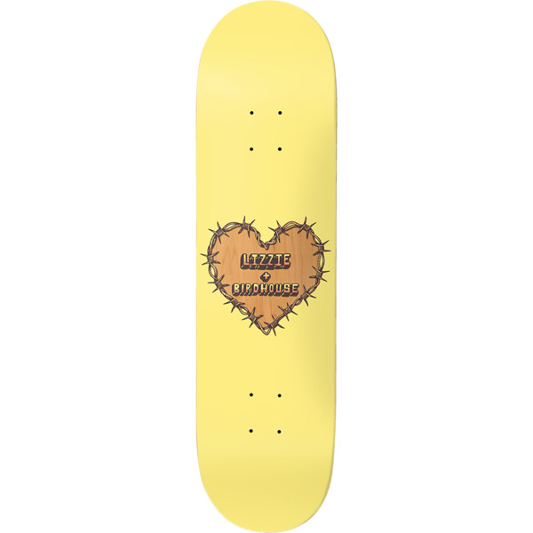 "Birdhouse Skateboards Lizzie Armanto Heart Protection Skateboard Deck - 8"" x 32"""