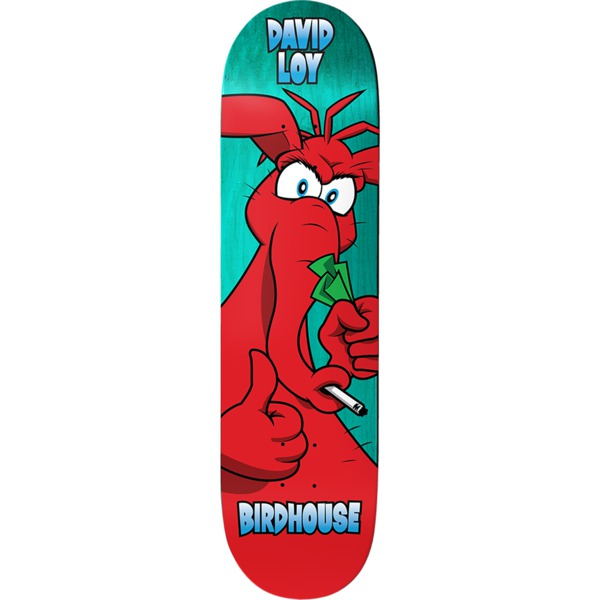 "Birdhouse Skateboards David Loy Big Red Skateboard Deck - 8.38"" x 32.12"""