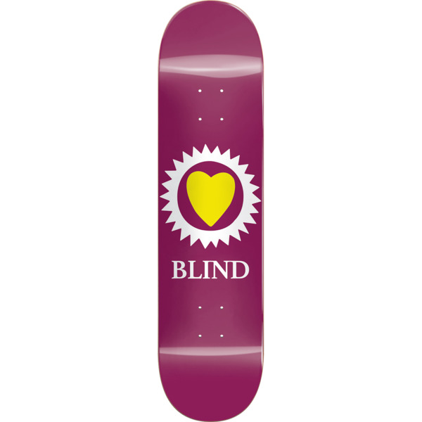 "Blind Skateboards Heart Merlot Skateboard Deck - 8"" x 31.6"""