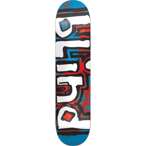 """Blind Skateboards OG Water Color Red / Blue Skateboard Deck - 7.75"""" x 31.1"""""""
