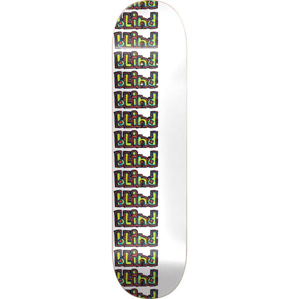 """Blind Skateboards Repeat Rail White Skateboard Deck - 7.75"""" x 31.75"""""""